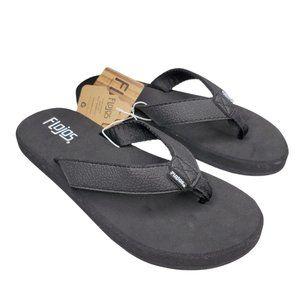 Flojos 445 Brody Strappy Sandal Flip Flops Black